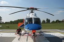 Heliport letecké záchranky v Olomouci. Ilustrační foto