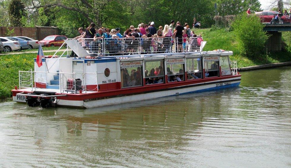 Baťův kanál ve Veselí nad Moravou