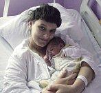 Adam Derkač, Ukrajina, narozen 13. září v Olomouci, míra 50 cm, váha 3090 g