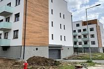 Bytový výstavba v Olomouci. Projekt Šibeník, srpen 2021