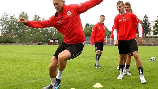 Jakub Heindenreich na tréninku reprezentace