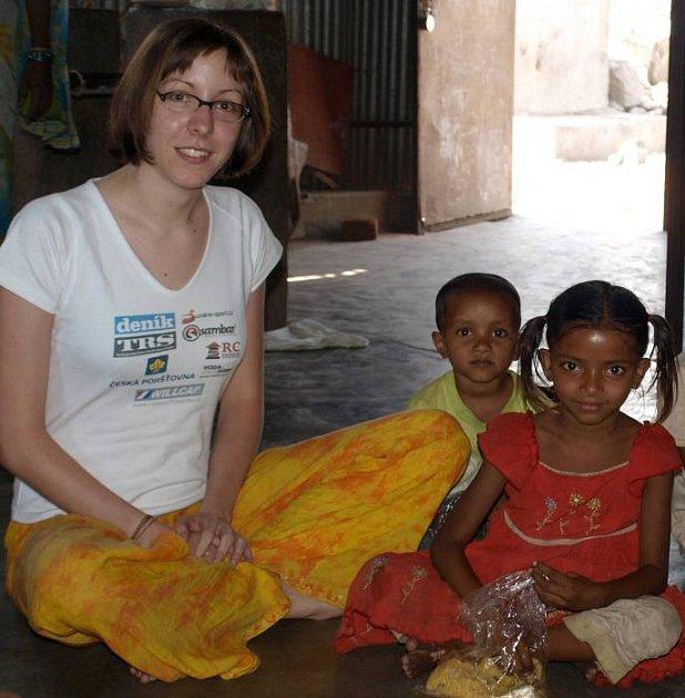 Andrea Blažková zolomoucké Caritas na své cestě po Indii