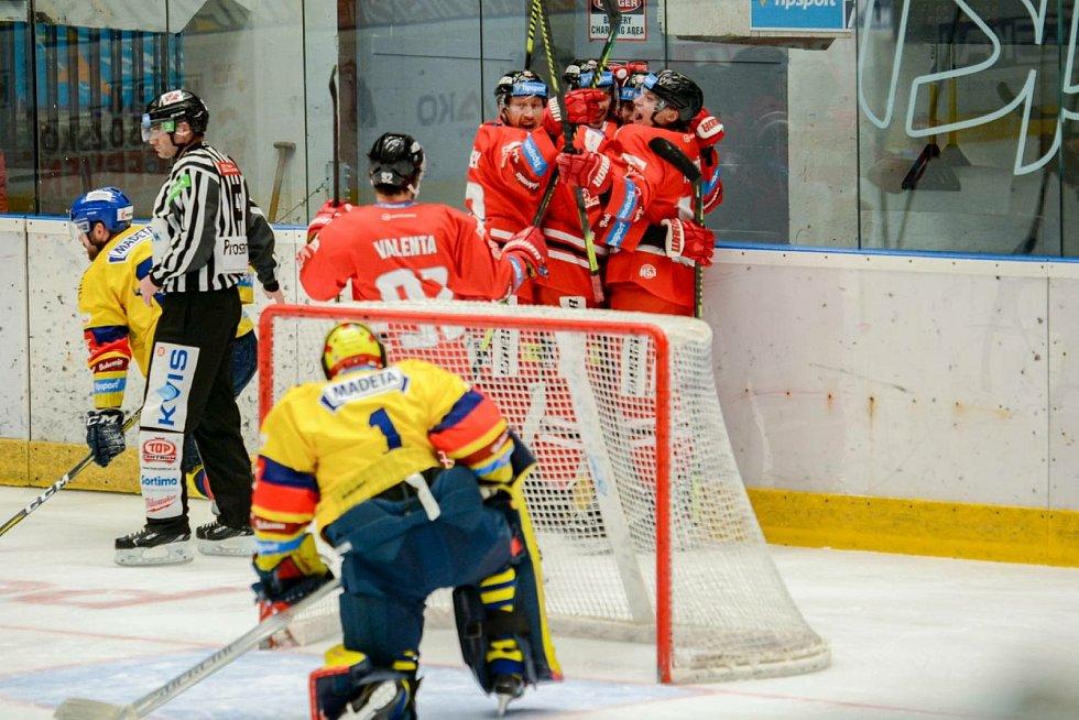 Hokejisté HC Olomouc doma zvítězili nad Českými Budějovicemi 3:2.