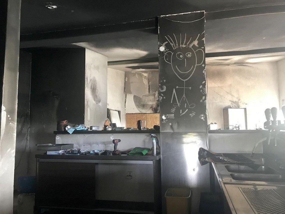 Restaurace Terasa na Poděbradech po nočním požáru