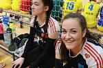 Volejbalistky Gymnázia Čajkovského Olomouc.na republikovém finále Sportovní ligy středních škol ve volejbalu v Jindřichově Hradci