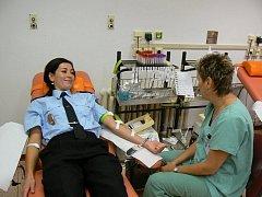 Olomoučtí strážníci coby dárci krve