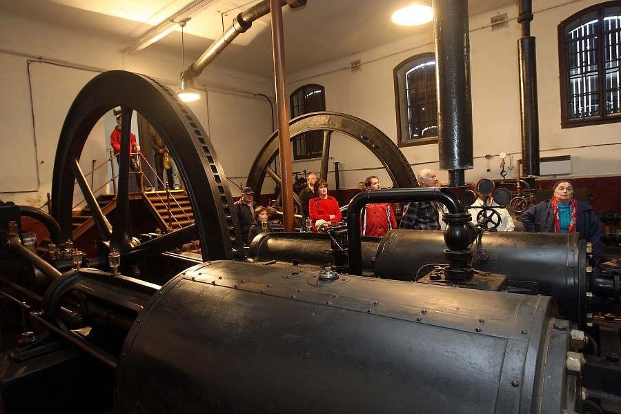 Historická parní čerpací stanice vody v olomoucké vodárně ve Chválkovicích