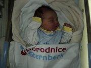 David Jochec, Šternberk, narozen 10. prosince, míra 50 cm, váha 3670 g