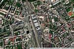 Kontejnerová loď Ever Given na hlavním nádraží v Olomouci