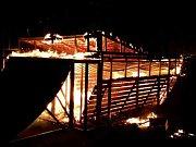 Požár skate rampy na letišti v Olomouci
