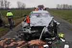 Tragická srážka tří aut u Rymic