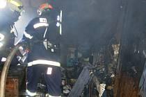 Požár podkroví v Troubelicích