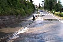 Havárie podzemního potrubí vody v Olomouci