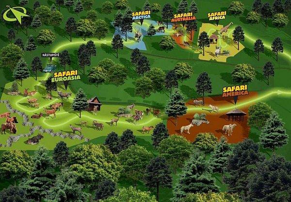 Plán budoucího safari volomoucké zoo. Autor: Zoo Olomouc
