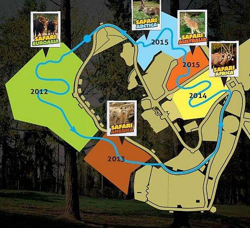 Plán výstavby safari vzoo na Svatém Kopečku.  Autor: Zoo Olomouc