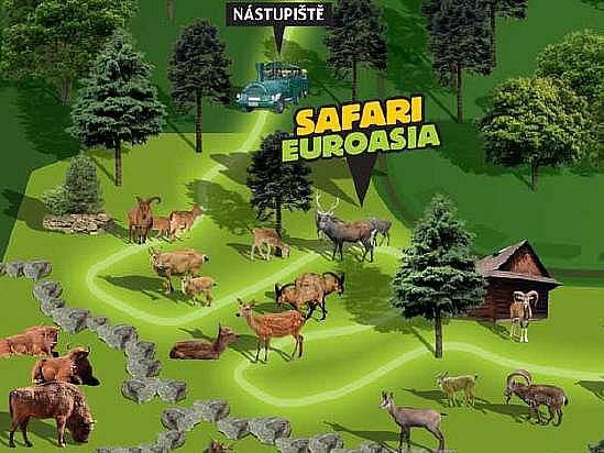 Část z plánu budoucího safari v olomoucké zoo.  Autor: Zoo Olomouc