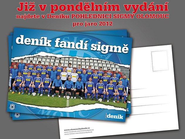 Deník přináší památeční pohlednici SK Sigma Olomouc