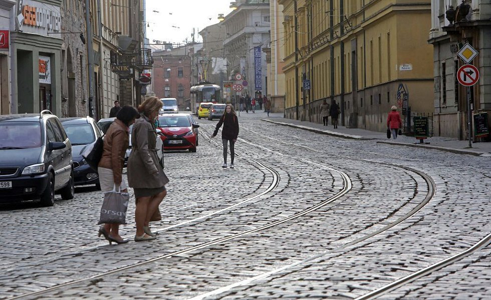 Třída 1. máje v centru Olomouce