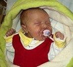 Nella Smitalová, Mladeč, narozena 23. října ve Šternberku, míra 46 cm, váha 3230 g