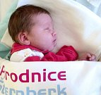 Monika Fridrišková, Šternberk narozena 29. listopadu míra 50 cm, váha 3480 g
