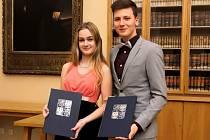 Litovelští písaři převzali ceny ministra školství.Foto: Štěpán Kratochvíl
