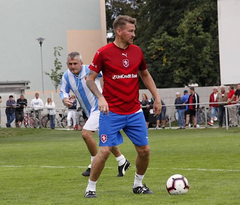 Marek Heinz na exhibičním zápase v Prostějově v září 2019*