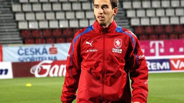 Tomáš Hořava na tréninku reprezentace v Olomouci
