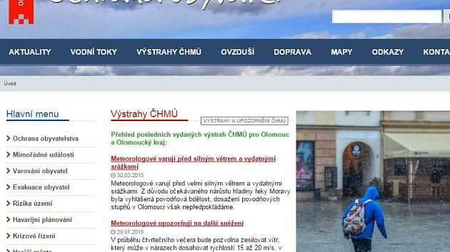 Ochrana obyvatel - web olomoucké radnice
