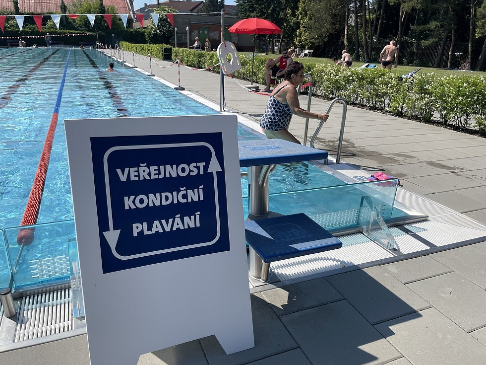 Letní areál Plaveckého stadionu Olomouc, 18. června 2021