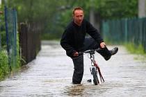 Povodně v Čechách. Ilustrační foto
