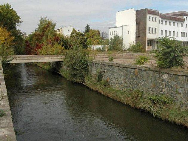 Zplanýrovaný areál Mila, kde má vyrůst nová olomoucká čtvrť Šantovka