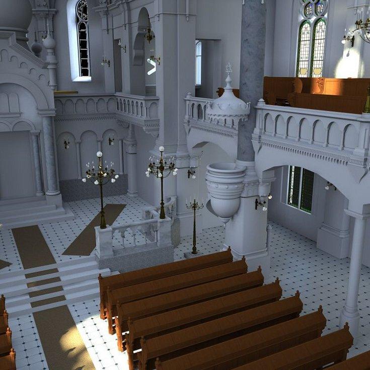 Vizualizace olomoucké synagogy
