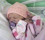 Dáša Trčková, Hranice, narozena 13. září v Olomouci, míra 48 cm, váha 2700 g