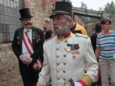 František Josef I. na fortu v Radíkově v září 2012. Vzpomínková akce ke 140. výročí císařské návštěvy.