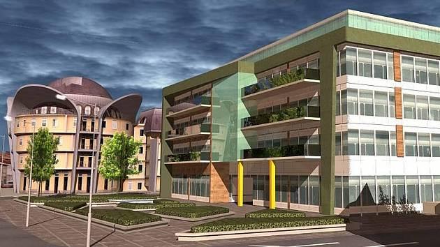 Vizualizace nové budovy v Hynaisově ulici