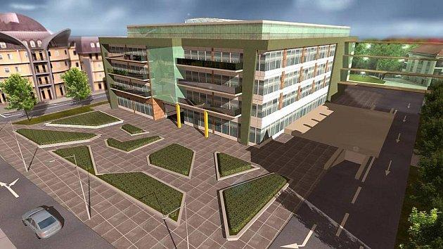 Vizualizace nové budovy vHynaisově ulici