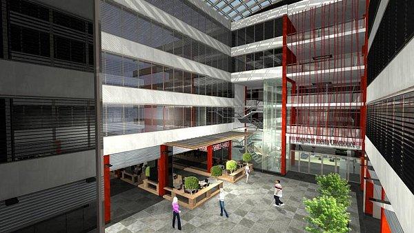 Vizualizace prostor magistrátu vnové budově vHynaisově ulici