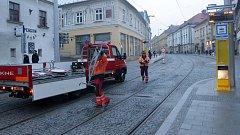 Zrekonstruovaná ulice 1. máje v Olomouci