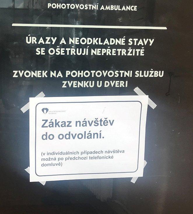 Od 5. března platí ve Fakultní nemocnici Olomouc plošný zákaz návštěv.