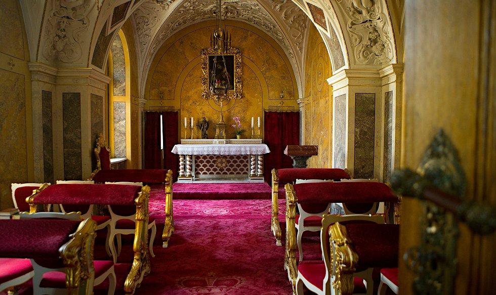 Barokní biskupská kaple Narození Páně v arcibiskupském paláci v Olomouci
