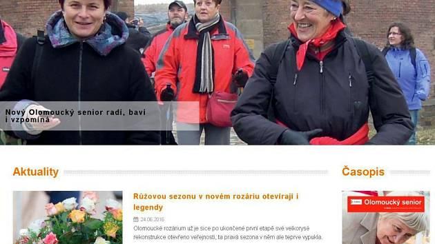 Město Olomouc spustilo nový web pro seniory