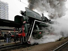 Parní vlak v Olomouci. Ilustrační foto