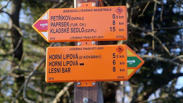 Jesenická lyžařská magistrála.