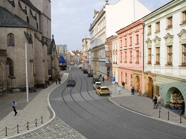 Vizualizace rekonstruované ulice 8. května
