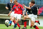 Marek Heinz v dresu reprezentační jedenadvacítky v kvalifikačním zápase se Skotskem