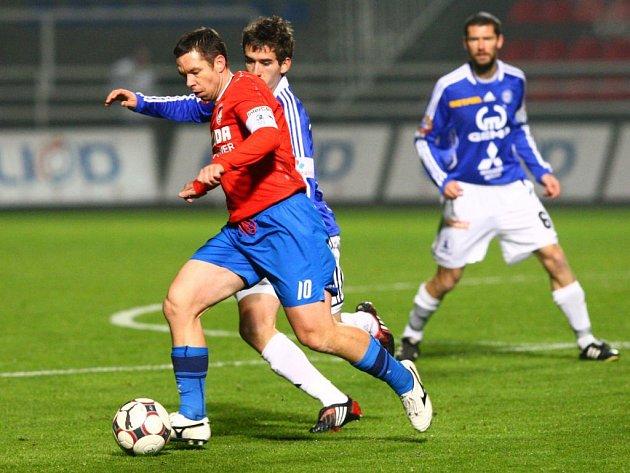Plzeň vs. Sigma Olomouc (v modrém)