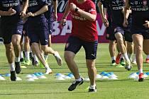 Trénink fotbalové reprezentace v Olomouci. Ilustrační foto