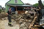 Šumvald. Druhý den po bleskové povodni, 9. června 2020
