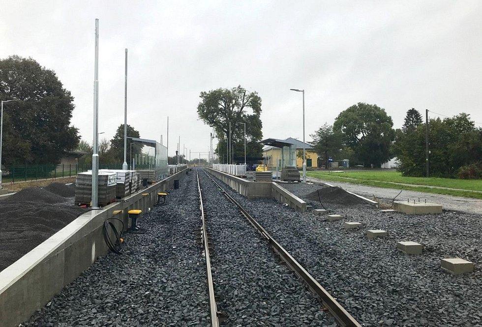 Elektrizovaná trať mezi Olomoucí a Šternberkem, 14. října 2020