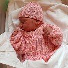 Adina Martykánová, Olomouc, narozena 13.bžezna v Olomouci, míra 50 cm, váha 3270 g